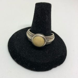 Jewelry - Sterling silver and camel bone ring